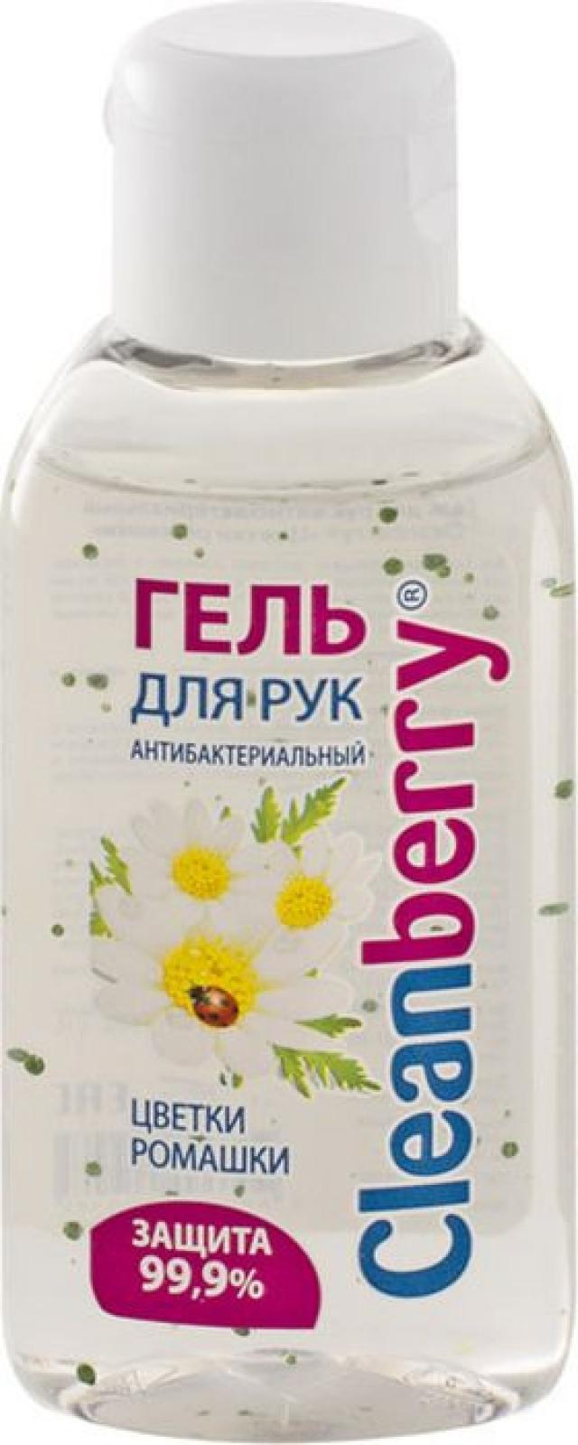 Клинберри гель антибактериальный ромашка 60мл купить в Москве по цене от 133 рублей
