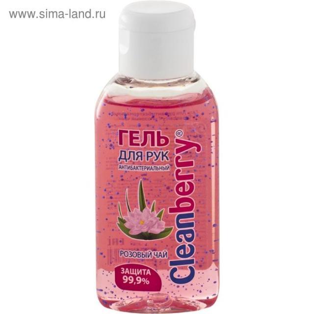 Клинберри гель антибактериальный розовый чай 60мл купить в Москве по цене от 0 рублей