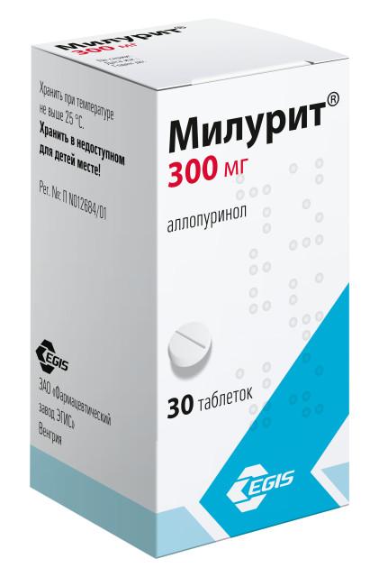 Милурит таблетки 300мг №30 купить в Москве по цене от 191 рублей