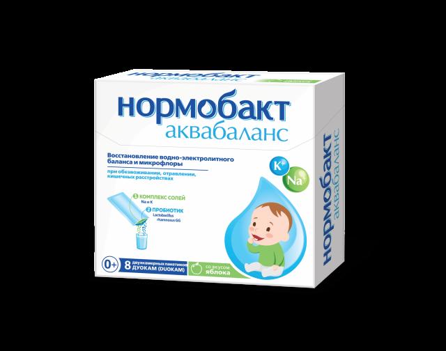 Нормобакт Аквабаланс саше Дуокам 2г+3,89г яблоко №8 купить в Москве по цене от 550 рублей