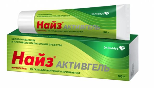 Найз Активгель 1% 50г купить в Москве по цене от 306 рублей