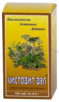 Чистовит-ВЭЛ таблетки 500мг №100 купить в Москве по цене от 240 рублей