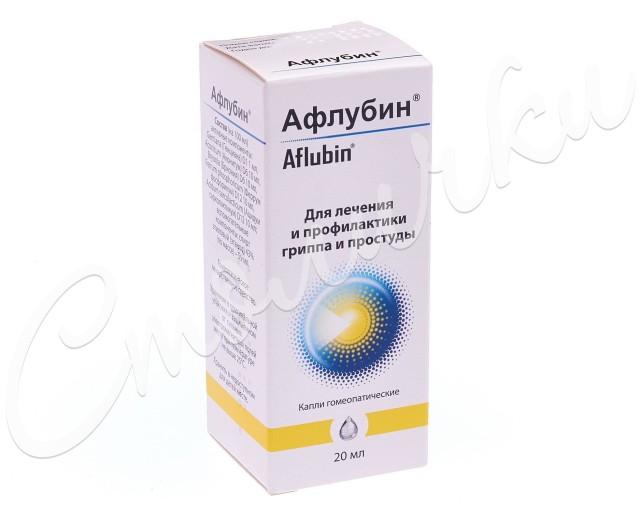 Афлубин капли гомеопатические 20мл купить в Москве по цене от 372 рублей