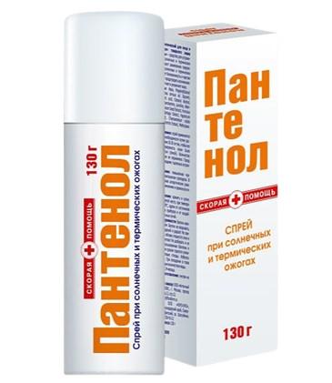 Скорая помощь Пантенол спрей 130мл купить в Москве по цене от 177 рублей