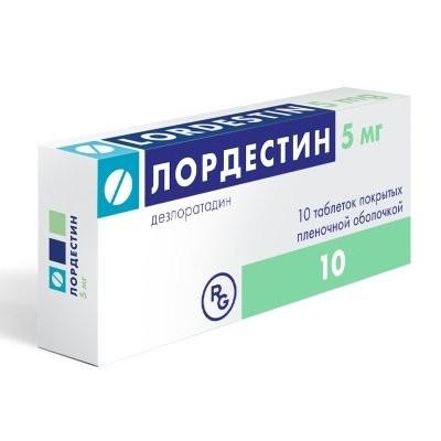 Лордестин таблетки п.о 5мг №10 купить в Москве по цене от 330 рублей