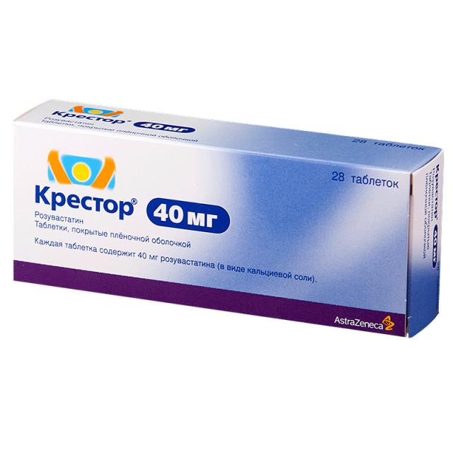 Крестор таблетки п.о 40мг №28 купить в Москве по цене от 5650 рублей