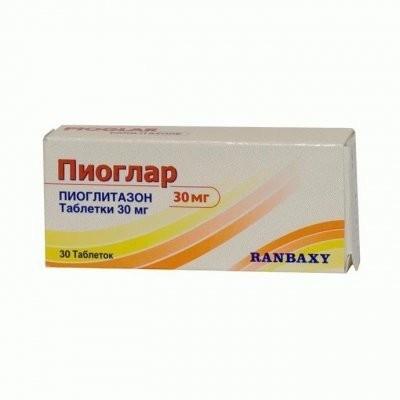 Пиоглар таблетки 30мг №30 купить в Москве по цене от 0 рублей