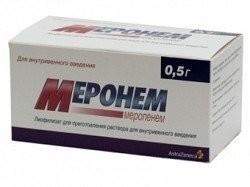 Меронем порошок лиофилизат для инъекций 500мг №10 купить в Москве по цене от 6772.5 рублей