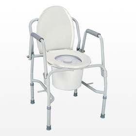 Кресло-туалет регулир. высоты опуск. поручни (68680/10583) купить в Москве по цене от 5300 рублей