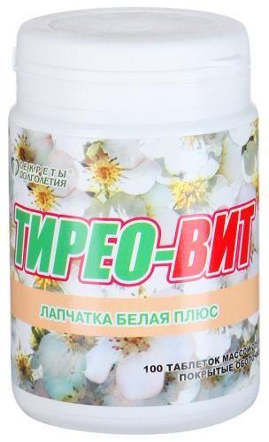 Тирео-Вит Лапчатка белая плюс таблетки №100 купить в Москве по цене от 319 рублей
