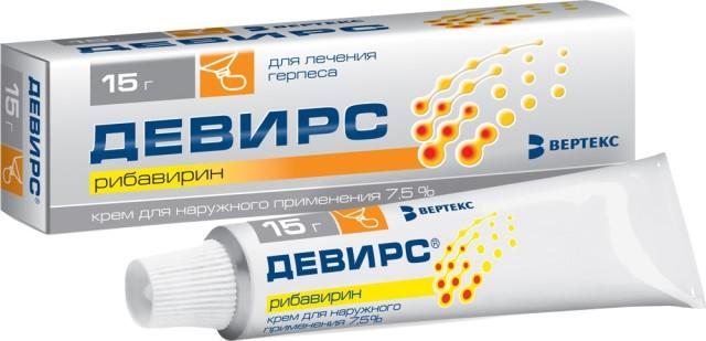 Девирс крем 7,5% 15г купить в Москве по цене от 556 рублей