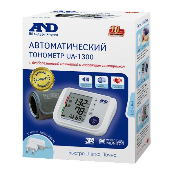 Эй Энд Ди Тонометр автомат UA-1300 (говорящий) купить в Москве по цене от 5150 рублей