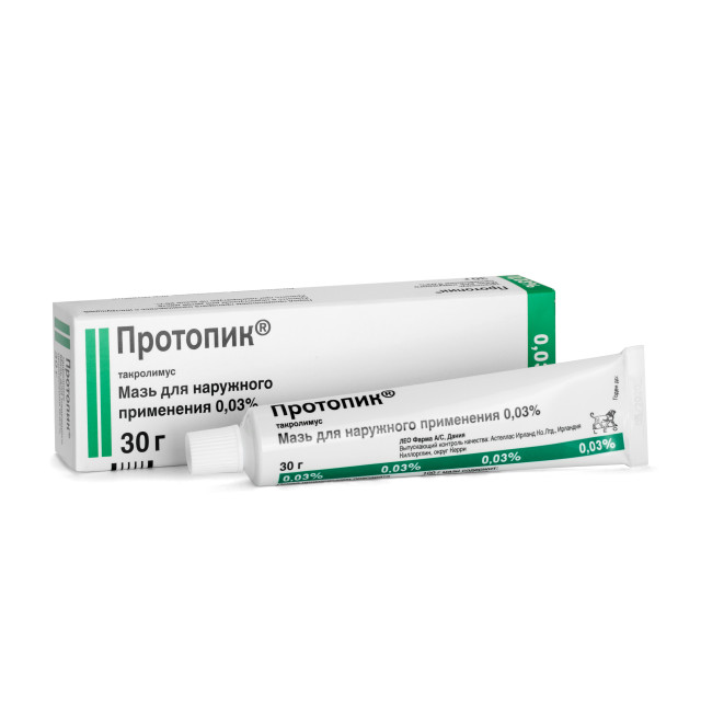 Протопик мазь 0,03% 30г купить в Москве по цене от 0 рублей