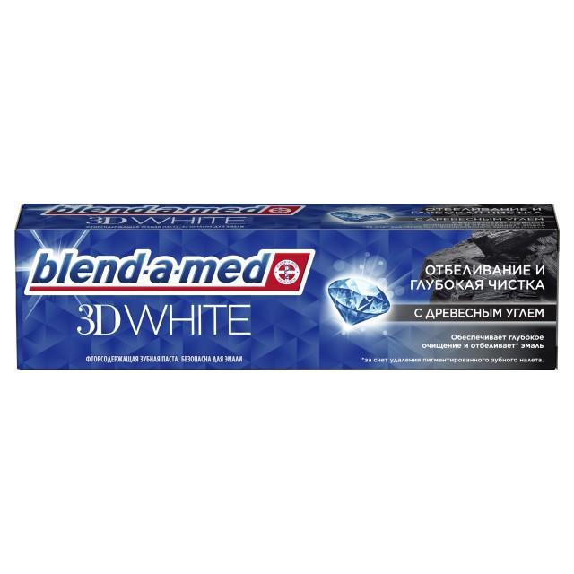 Бленд-а-мед зубная паста 3Д Уайт Глуб.чистка уголь 100мл купить в Москве по цене от 156 рублей
