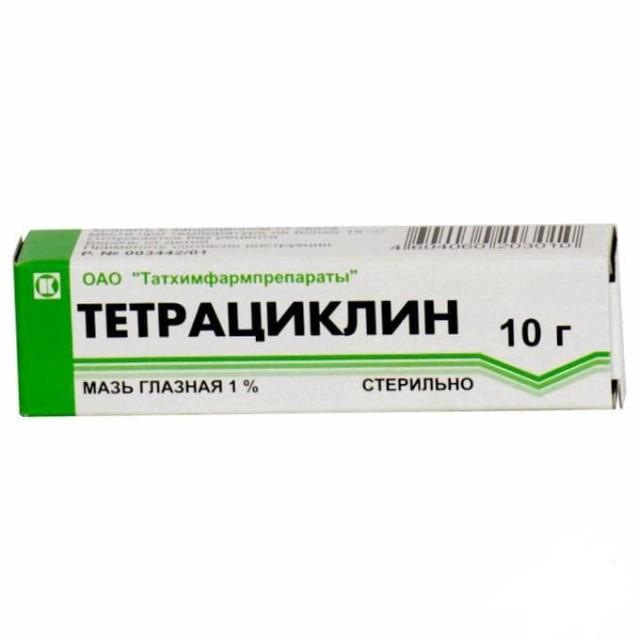 Тетрациклин мазь глазная 1% 10г купить в Москве по цене от 0 рублей