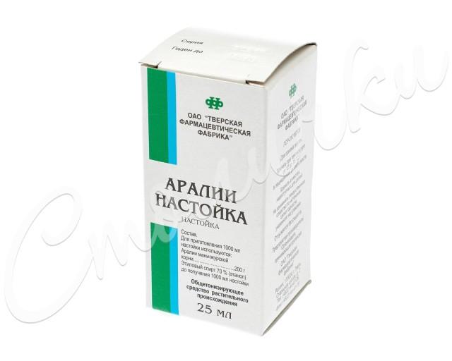 Аралия настойка 25мл купить в Москве по цене от 21 рублей