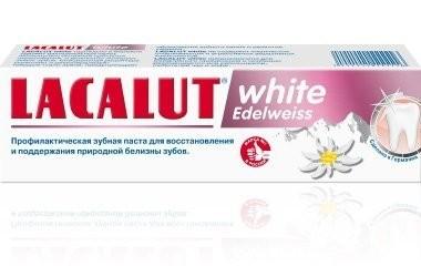 Лакалют зубная паста Уайт Эдельвейс 75мл купить в Москве по цене от 314 рублей