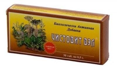 Чистовит-ВЭЛ таблетки 500мг №30 купить в Москве по цене от 0 рублей