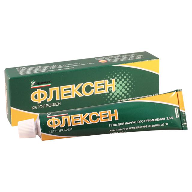 Флексен гель 2,5 % 30г купить в Москве по цене от 203 рублей