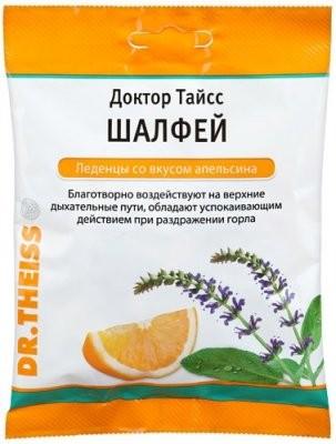 Доктор Тайсс леденцы Шалфей/апельсин 50г купить в Москве по цене от 168 рублей