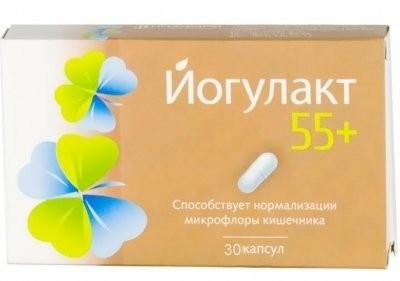 Йогулакт 55+ капсулы №30 купить в Москве по цене от 0 рублей