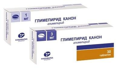 Глимепирид Канон таблетки 3мг №30 купить в Москве по цене от 204 рублей