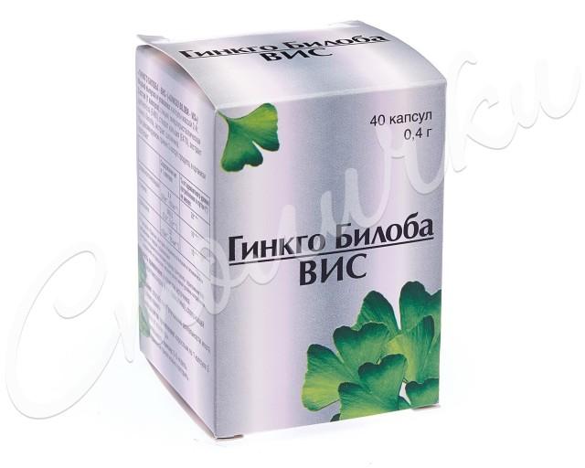 Гинкго Билоба ВИС капсулы №40 купить в Москве по цене от 157 рублей