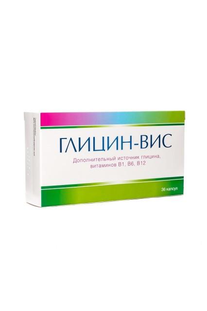 Глицин капсулы 400мг №36 купить в Москве по цене от 109 рублей