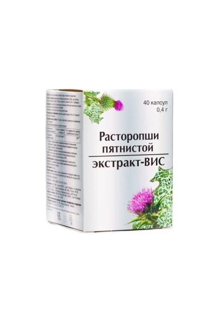 Расторопша экстракт ВИС капсулы 400мг №40 купить в Москве по цене от 229 рублей