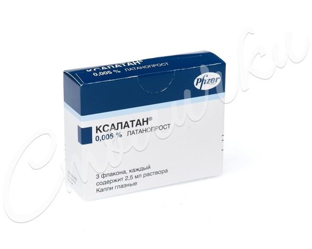 Ксалатан капли глазные 0,005% 2,5мл №3 купить в Москве по цене от 1710 рублей