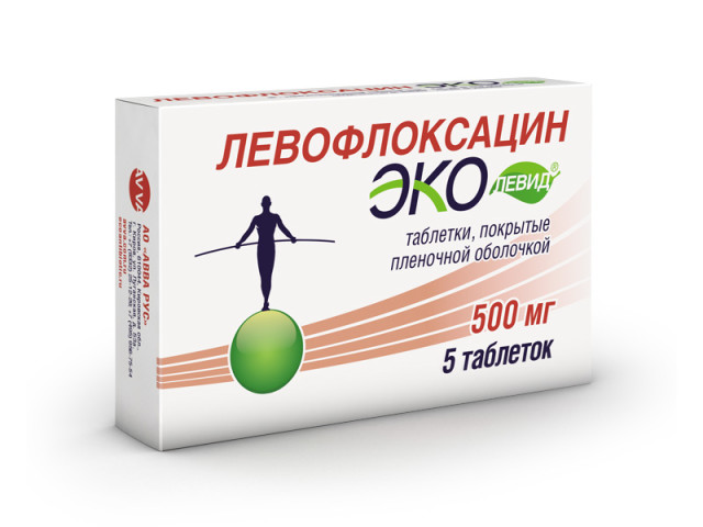 Левофлоксацин Эколевид таблетки п.о 500мг №5 купить в Москве по цене от 357 рублей