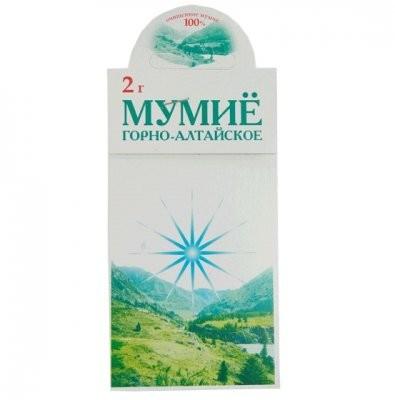 Мумие горноалтайское 2г купить в Москве по цене от 34 рублей
