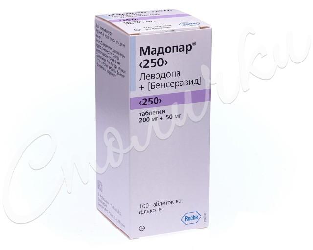 Мадопар 250 таблетки №100 купить в Москве по цене от 1075.5 рублей
