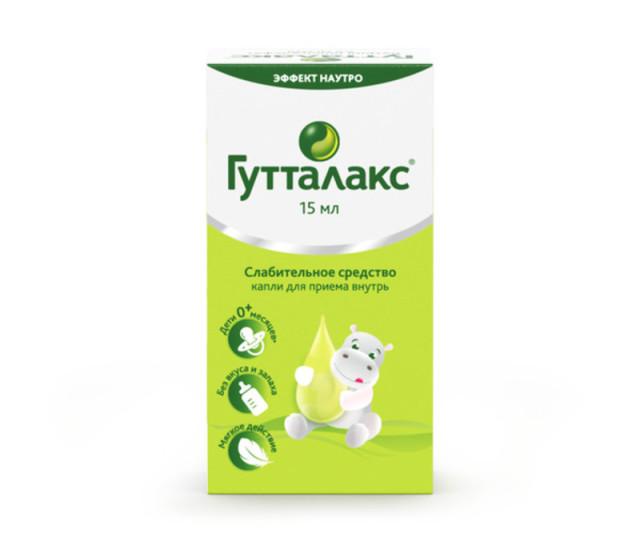 Гутталакс капли внутрь 7,5мг/мл 15мл купить в Москве по цене от 307 рублей
