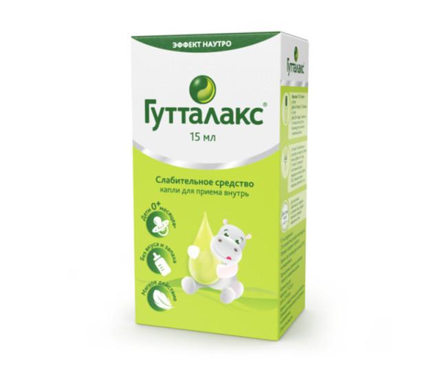 Гутталакс капли внутрь 7,5мг/мл 15мл купить в Москве по цене от 318 рублей