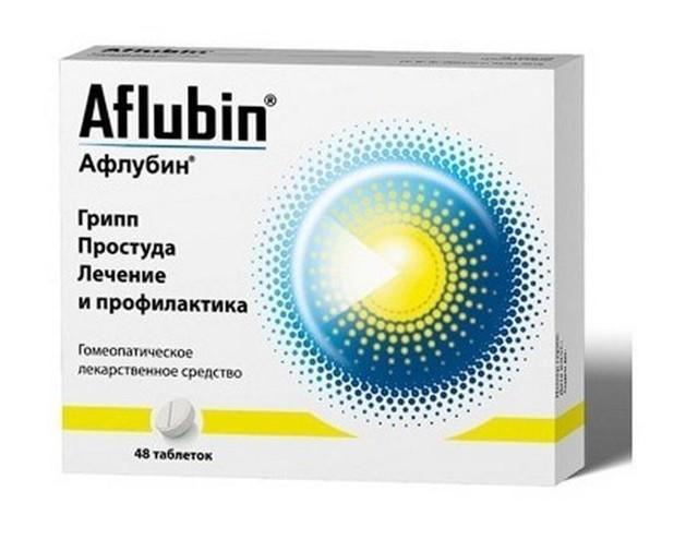 Афлубин таблетки гомеопатические №48 купить в Москве по цене от 584 рублей