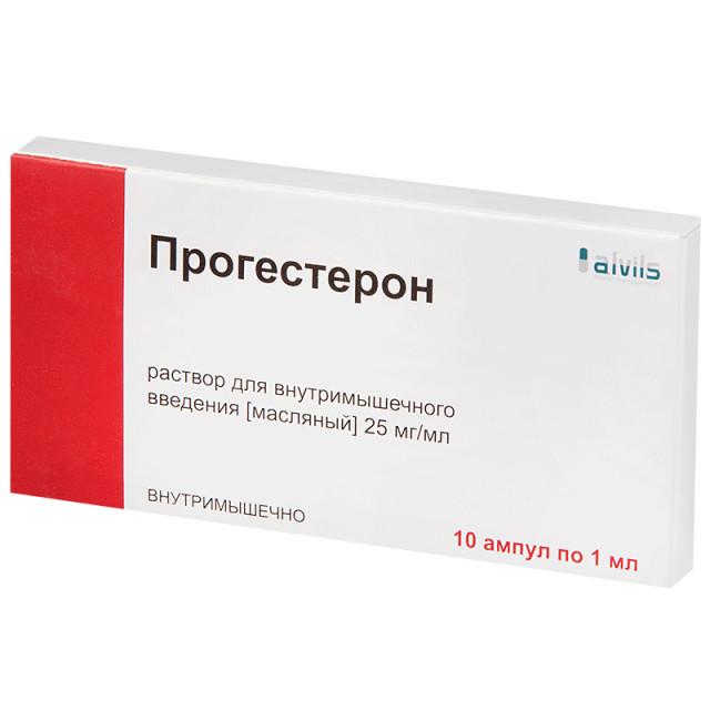 Прогестерон раствор для инъекций масл. 2,5% 1мл №10 купить в Москве по цене от 907 рублей