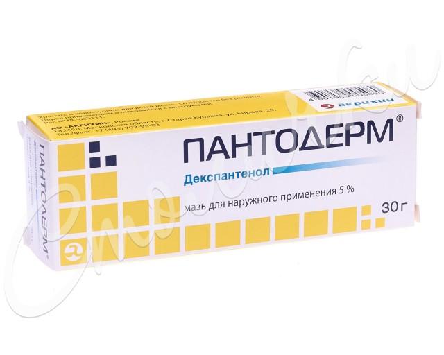 Пантодерм мазь 5% 30г купить в Москве по цене от 277 рублей
