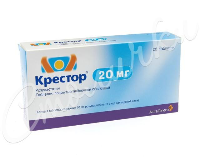 Крестор таблетки п.о 20мг №28 купить в Москве по цене от 3920 рублей