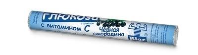 Блок Глюкоза Вит.С/Черная смородина таблетки №18 купить в Москве по цене от 81 рублей
