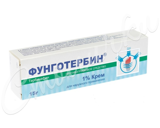 Фунготербин крем 1% 15г купить в Москве по цене от 301 рублей