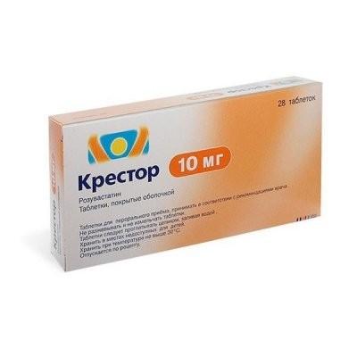 Крестор таблетки п.о 10мг №28 купить в Москве по цене от 1660 рублей