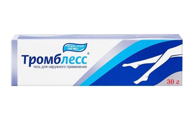 Тромблесс гель 1000 ЕД/г 30г купить в Москве по цене от 248 рублей