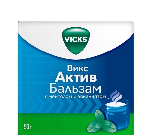 Викс Актив Бальзам Ментол/эвкалипт мазь 50г купить в Москве по цене от 323 рублей