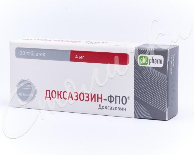 Доксазозин-ФПО таблетки 4мг №30 купить в Москве по цене от 252.5 рублей