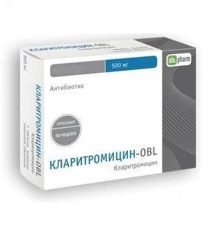 Кларитромицин-OBL таблетки п.о 500мг №14 купить в Москве по цене от 471.5 рублей