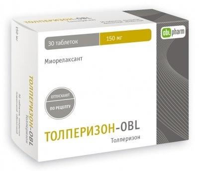 Толперизон-OBL таблетки п.о 150мг №30 купить в Москве по цене от 273 рублей