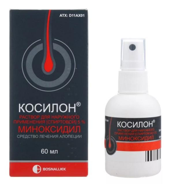 Косилон раствор наружный 5% 60мл купить в Москве по цене от 757 рублей