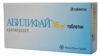Абилифай таблетки 15мг №28 купить в Москве по цене от 0 рублей