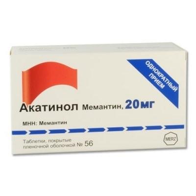 Акатинол Мемантин таблетки п.о 20мг №56 купить в Москве по цене от 5273 рублей